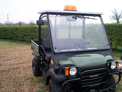 Kawasaki Mule Cab mounted Beacon